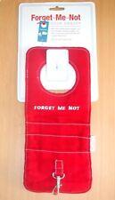 FORGET ME NOT red door hanger reminder for keys, mobile phone etc storage pocket