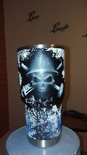 Custom painted Oilfield themed Yeti cup