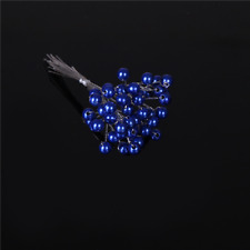 6mm Pearls Royal Blue Spray 12 Stems Craft Projects Wedding Flower Bouquet Cake