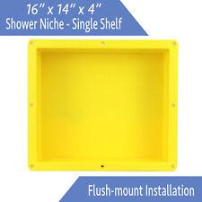 "Flush Mount - Leakproof 16"" x 14"" Square Bathroom Recessed Shower Shelf Niche"
