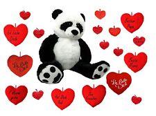 XXL Panda Bär 100 cm und Herzkissen zur Auswahl Teddy Kuschelbär Teddybär