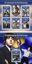 Paul Mccartney The Beatles Music Guinea-Bissau MNH Juego de Sellos