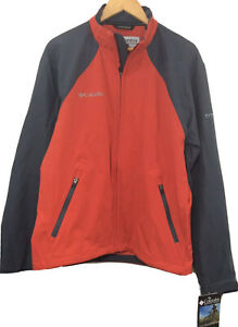 NEW $80 Columbia Red Gray Titanium Lightweight Softshell Jacket Mens Size XL