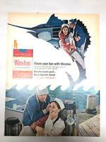1968 Winston Cigarette Ad Flavor Your Fun Marlin Swordfish Deep Sea Fishing
