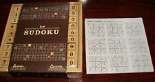 Starbuck's Coffeehouse * Coffee Games ❤ Sudoku ❤ Bamboo Case & Pieces - Complete