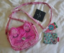 Girls laura Ashley bag pink cat & pretty & witty coin purse new