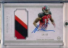 MIKE EVANS - 2015 Definitive 4 Color Patch AUTO SP /99 - Tampa Bay Buccaneers