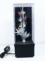 "Vintage Fiber Optic Flowers Lamp Color Changing Light 1980s 14""   C1"