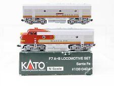 N Scale Kato 106-0404 ATSF Santa Fe EMD F7A/F7B Locomotive Set #300 & 300B