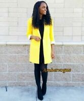 Zara New Yellow Long Blazer Oversized SIZE XS S M