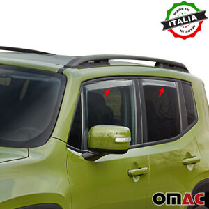 Window Visor Vent Sun Shade Rain Guard 4pcs Fits Jeep Renegade 2015-2021