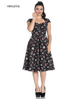 Hell Bunny Pinup 50s Dress Rockabilly Cherry Swallow STEVIE Tattoo All Sizes