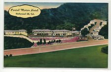 Portal Motor Hotel Motel Hollywood California linen postcard