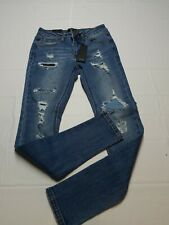 C'est Toi Destroyed Skinny Jeans Black label Size 5 Waist 28 New With Tags.