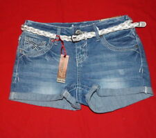 Amethyst Jeans Shorts Sz 1Jr. Mid Rise Embroidery Belted Cuff $18.-NWT Free/Ship