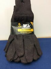 Wells Lamont All Purpose Wearpower Jersey Gloves Brown Large Pack of 6