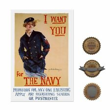"""13""""×19"""" Historic Poster, Reproduction: Women In The Navy Military Recruitment"""