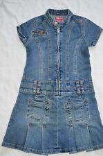 Ecko Red Girls 8 Denim T Shirt Dress Above Knee Jumper Blue Jean Zip Up