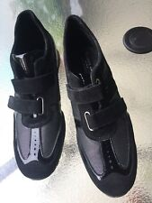 NEW ITALIAN BIANKO ORO BLACK PATENT LEATHER/ SUEDE WOMENS SHOES US SIZE 7,5M