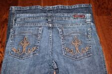 Underground Soul Womens Size 10 stretch Embroidered Pockets jeans Stretch
