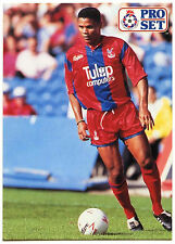 John Salako Crystal Palace #259 Pro Set Football 1991-2 Trade Card (C364)