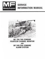 Massey Ferguson MF 750 760 Combine 14 Channel Monitor 540 550 Service Manual