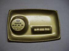 Farmers Co-op Oil Co. Holland Iowa metal ashtray