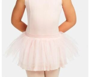 CAPEZIO pleated tulle tutu skirt Pink 11139C pullup girls sizes 11139C