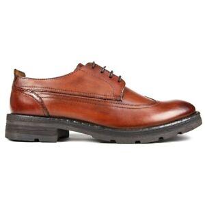 BASE LONDON Mens Sherman Brogue Shoes Tan