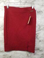 Michael Kors Womens Skirt Size S Red Above Knee Pencil Career 99$ #I