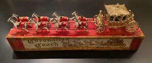 VINTAGE LESNEY MOKO GOLD CORONATION COACH, LARGE, ORIGINAL, BOXED