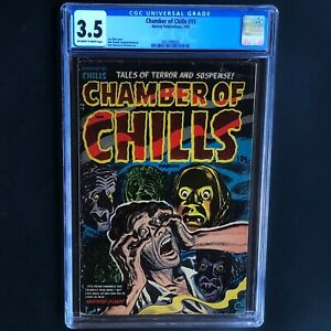 CHAMBER of CHILLS #15 (Harvey 1953) 💥 CGC 3.5 OW-W 💥 PCH Lee Elias *Must See*