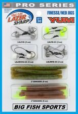 Eagle Claw Lazer Finesse Ned Rig Kit with Worms/Hooks, Yum Baits #Lpskit3