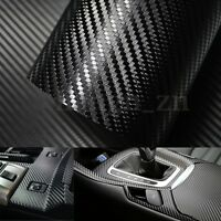 127x30cm 5D Fibre Carbone Film Vinyle Autocollant Sticker Adhesif Voiture Auto