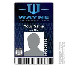 PERSONALISED Printed Novelty ID- Wayne Enterprises BATMAN Gotham FILM TV Card