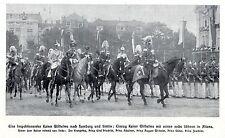Kaiser Wilhelm II. mit seinen sechs Söhnen (Parade)Historische Aufnahme von 1911