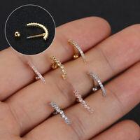 Lip Body Piercing Jewelry Rhinestone Tragus Earrings Cartilage Helix Ear Studs