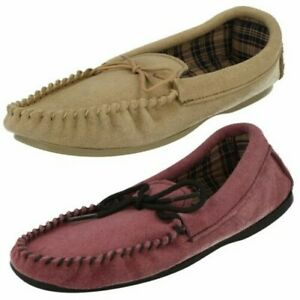 Ladies Bella Slip On Slippers 'Moccasin'