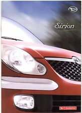 Daihatsu Sirion 2003-05 UK Market Brochure 1.0 1.3 EL SL 4trak F-Speed Rally