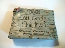 All God's Children Figurine Sign by Martha Holcombe