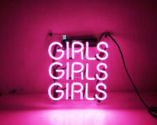 "10""x10""GIRLS GIRLS GIRLS Neon Sign Light  Beer Bar Pub Wall Poster Decor Artwork"