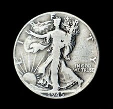 1945 Walking Liberty Half Dollar~90% Silver~F~Fine~Combined Shipping~!