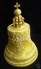 19C RUSSIAN GOLD GILDED BRONZE TSAR - BELL
