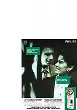 PUBLICITE ADVERTISING  1989   PHILIPS   RASOIR