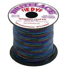 100 FEET (30m) SPOOL CLEAR BLUE TYE DYE BRITELACE REXLACE PLASTIC LACING CRAFTS