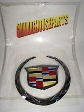 "2007-2013 CADILLAC ESCALADE EXT ""CREST AND WREATH"" TAIL GATE EMBLEM NEW 22984655"