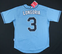 NWT Evan Longoria Tampa Bay Rays Majestic Authentic Cool Base Sewn MLB #3 Jersey