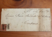 Italy1865 Brown Numeral 2 centissimos on Envelope with verse inside