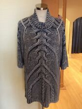 Aldo Martins Sweater Size 14 BNWT Black Grey Blue RRP £162 Now £73