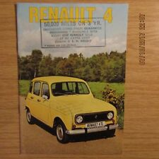 RENAULT 4 TL R1123 7cwt Van Pick-up UK Market Car Sales Brochure 1975
